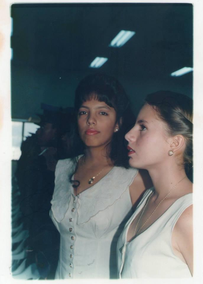 vintage photo of girl looking at camera