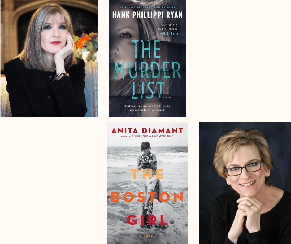 Anita Diamant and Hank Phillippi Ryan Books
